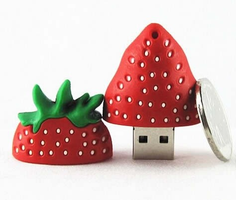 32G Strawberry Shaped USB Flash Drive
