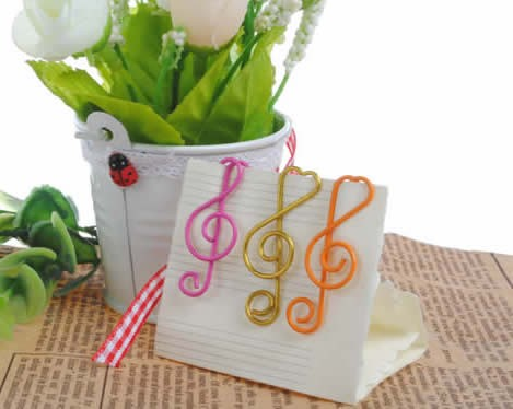 24pcs  Musical Note  Shape Paper Clips