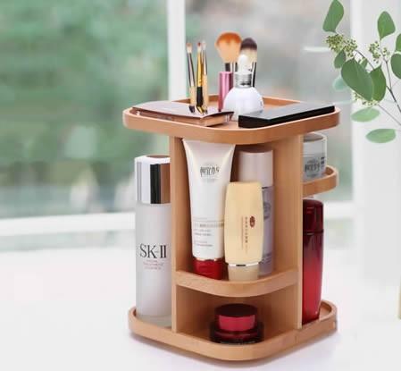 360 Degree Rotation Cosmetic Desktop Storage Organizer