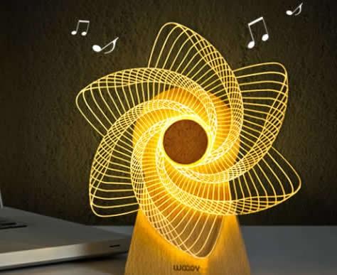 USB Wooden 3D Night Light LED Optical Night Lamps