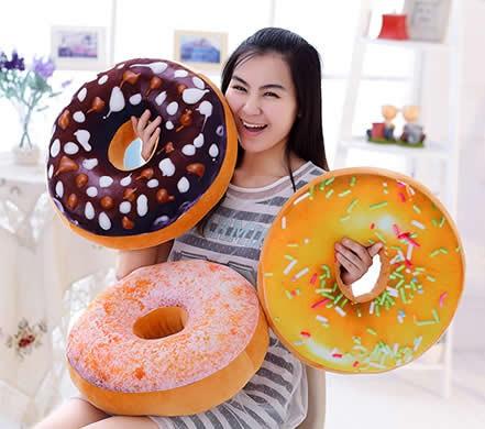 3D Doughnut  Throw Pillow Office Nap Pillow