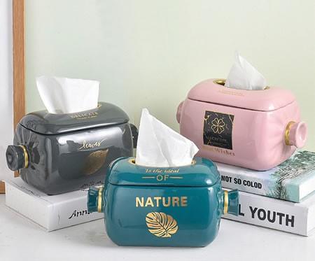 Creative candy ceramic living room decoration tissue box
