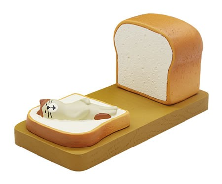 Cute cartoon cat and toast bread cell phone holder Mobile Phone Stand