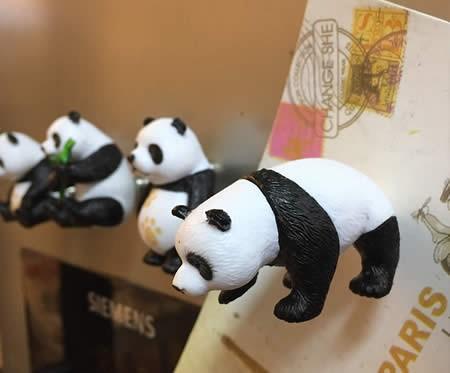 Cute Cartoon Panda Fridge Magnets,Set of 4