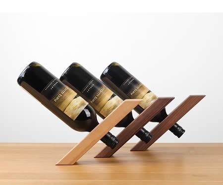 Japanese style simple support wood wine holder Bottle rack