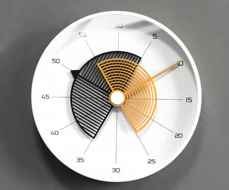 Stylish office home round pointer art wall clock
