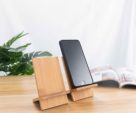 Simple Bamboo Wood Easy To Carry Splicing Combination Cell Phone Holder