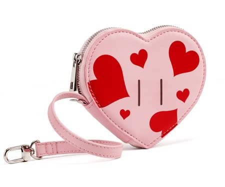 Beautiful pink heart shape girl coin purse