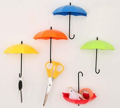 6pcs Umbrella Style Wall Mount Self Adhesive Wall hooks