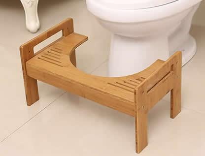 Adjustable Bamboo Toilet Stool