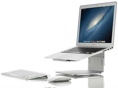 """Aluminium Adjustable Laptop Cooling Stand Holder for size 12""""-17""""  Apple MacBook  & PC Laptop"""