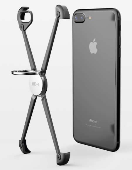 Aluminum Bumper Frame Case With Ring Grip Stand  for iPhone X/8/8 Plus/7/7 Plus/6/6 Plus/6S/6S Plus