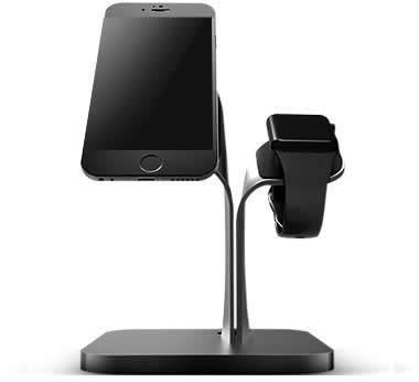 Aluminum Charging Dock Station Charger Holder Stand For SmartPone iPad Apple Watch