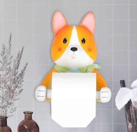 Animal  Wall Mounted Single Toilet Paper Roll Holder Dispenser