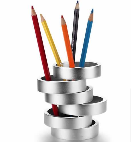 Art Aluminum Alloy Pen Holder