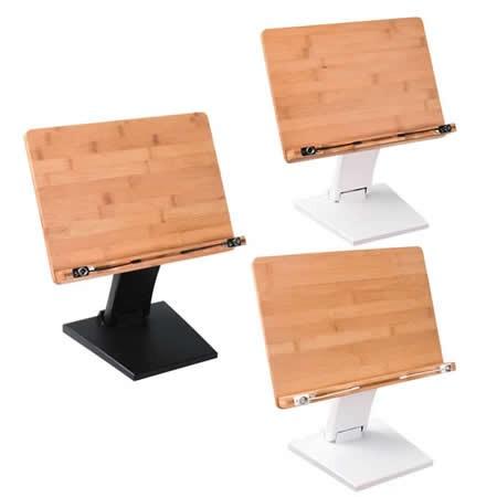 Bamboo Wooden Book Stand Reading Rest Bookrest Cookbook Laptop Holder