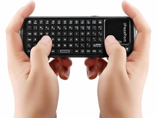 Bluetooth Universal  Black  Keyboard with Touchpad  And Laser Pointer