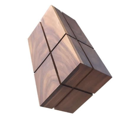 Black Walnut  Wooden  Square Tissue Box