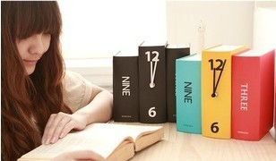 Book Standing Tabletop Clock