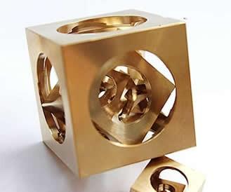 Brass Brainteaser IQ Square Ghost Ball