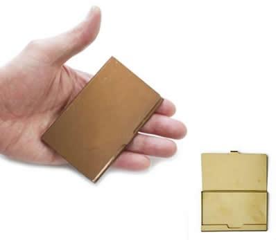 Brass Business Card Case