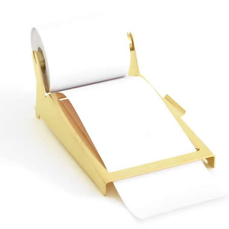 Brass Note Pad Holder Memo Dispensers