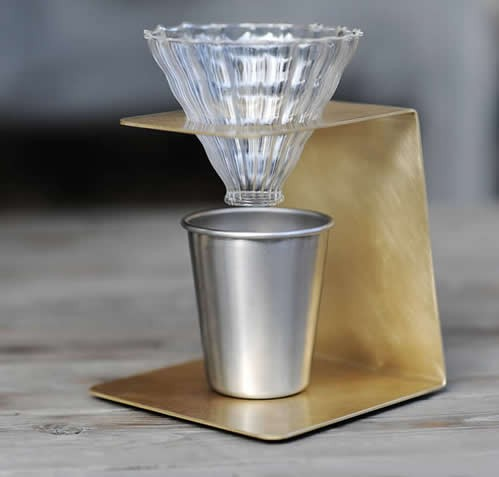 Brass Pour-Over Coffee Station
