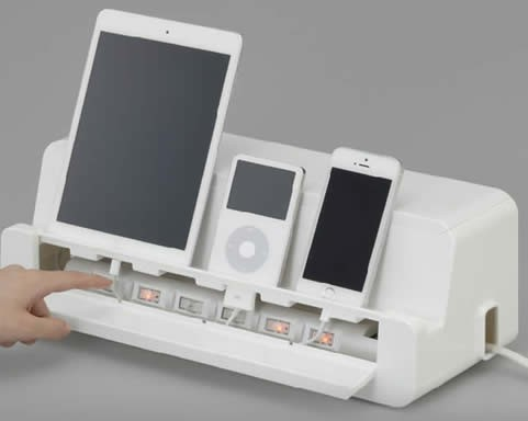 Cable Cord Management Storage Box Charger Holder For Ipad