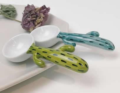 Cactus Ceramic Spoon