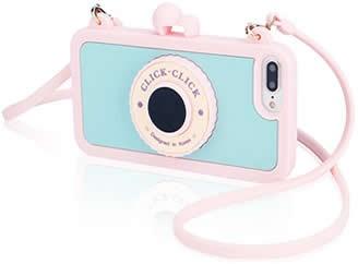 Camera Soft Silicone Case For iPhone 8/8 Plus/7/7 Plus- Built in Wireless Camera Shutter Selfie Bluetooth Remote