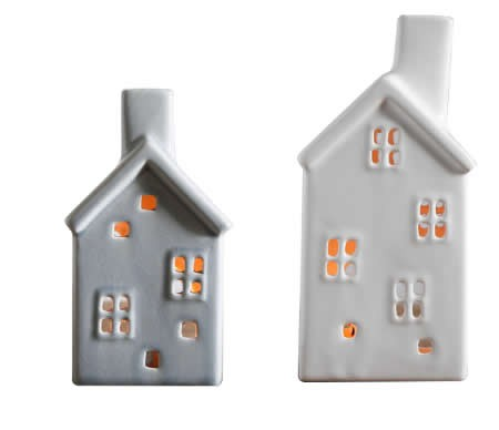 Ceramic House-shaped  Tealight Candle Holder