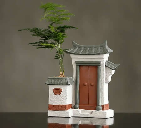 Ceramic Architectural Style Flower Pot Home Decor