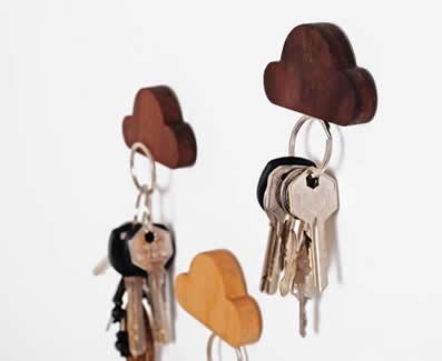 Cloud Key Holders,Set of 2