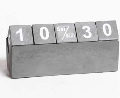 Concrete Cubes Perpetual Calendar