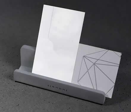 Concrete  Desk Business Card Holder Display Office Business Card Holder
