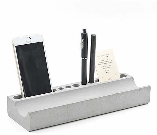 Concrete  Pencil Holder & Phone Holder  Desk Organizer