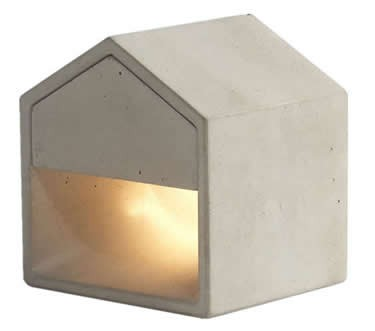 Concrete Finish House Shaped USB Cement Table lamp