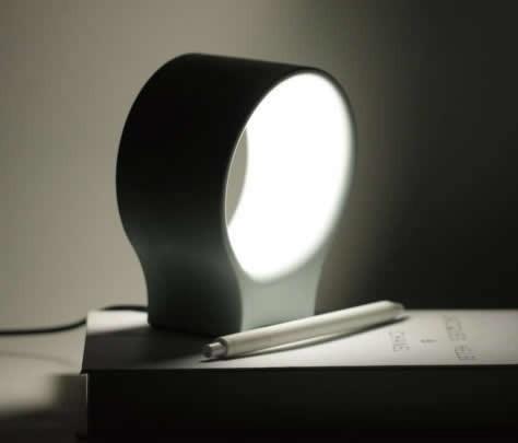 Concrete Finish USB Led Cement Table lamp