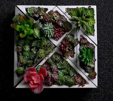 Concrete Modular Geometric Succulent Planter Plant Pot Flower Pot Feelgift