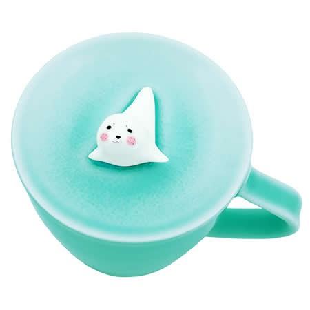 Cute Seal Figurine Ceramic Coffee Cup