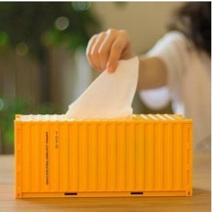 DIY Shipping Container Style Tissue Box