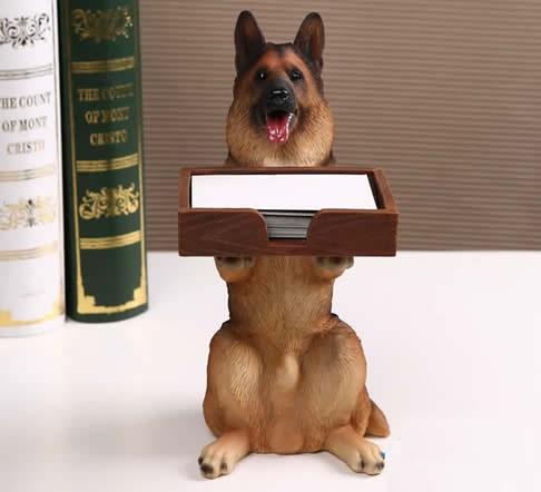 Dog desk business card holder feelgift dog desk business card holder reheart Images