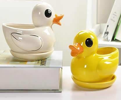 Duck Ceramic Succulent Planter Flower Pot