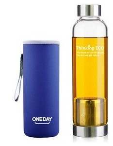 ECO Tea Infuser Glass Bottle With Bottle Bag