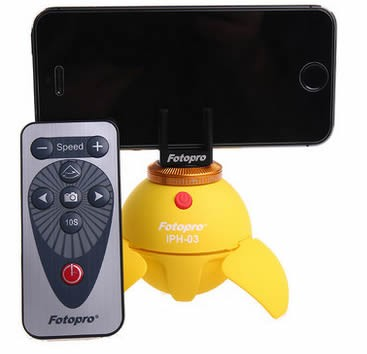 Electronic 360 Degree Panoramic Phone Holder Clip for Micro Camera/Phone