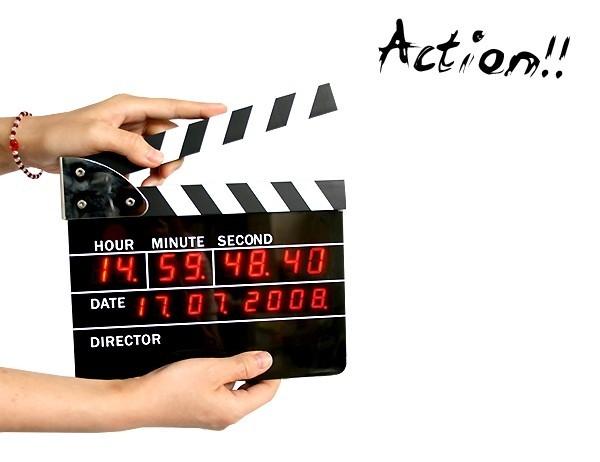 Movie/Film Action Board Clock
