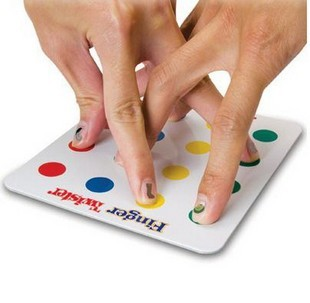 Mini Version of  Finger Twister Board Game
