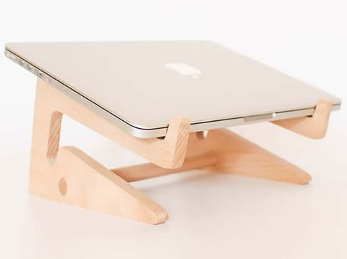 Folding Wooden Desktop Stand For Tablet Laptop Macbook Air Or Pro