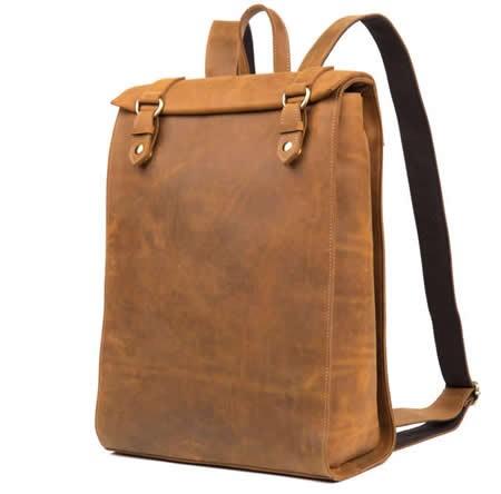 "Handmade Genuine Leather Backpack  15""Laptop School College Bag"
