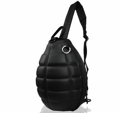 Grenade-Shaped Zipper Single Shoulder Bag
